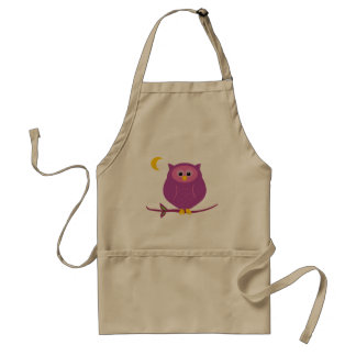 Purple Owl Adult Apron