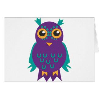 Purple Owl Card