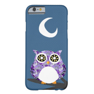 Purple Owl Chilling at Night on A Tree Branch Barely There iPhone 6 Case