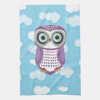 Purple Owl Cloud Kitchen Towel