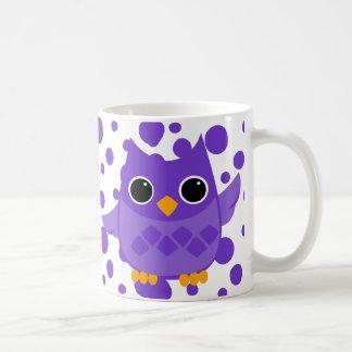 Purple Owl Coffee Mugs