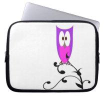 Purple Owl Computer Sleeve