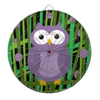 Purple owl dart boards