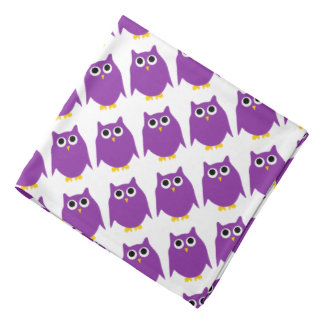 Purple Owl Design Bandana