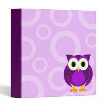 "Purple Owl Design Binder 1"""