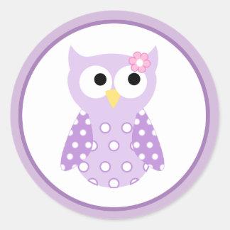 Purple Owl Envelope Seals / Toppers 20