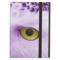 Purple owl eyes iPad air cover