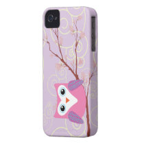 Purple Owl Girly Iphone 4 cases