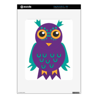 Purple Owl iPad Decals