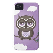 Purple Owl iPhone 4 Case-Mate Barely There