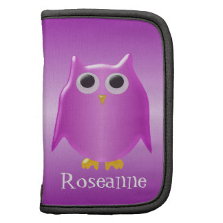 Purple Owl Just Add Name Folio Planners