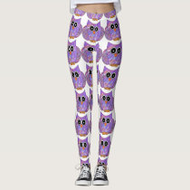 Purple Owl Leggings