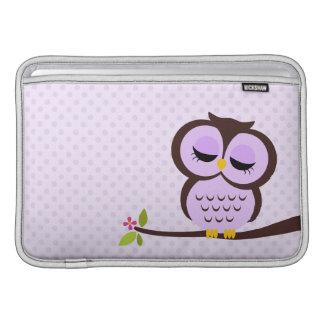 Purple Owl Macbook Air Sleeve