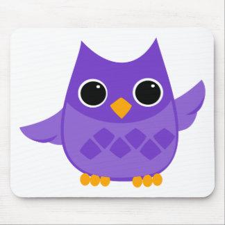 Purple Owl Mouse Pad