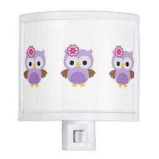 Purple Owl Night Light