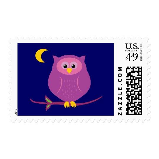 Purple Owl Postage