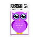 Purple Owl Postage Stamp