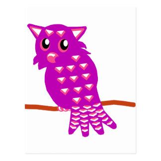Purple Owl Postcard