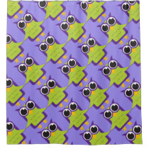 Purple Owl Shower Curtain