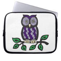 Purple Owl Sleve Computer Sleeve