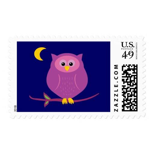 Purple Owl Stamp