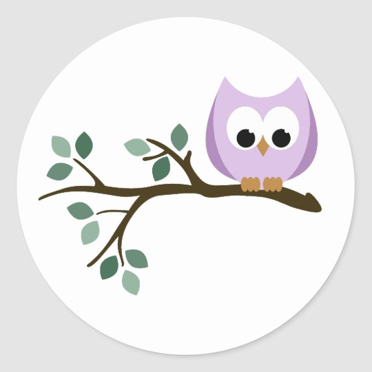Purple Owl Stickers