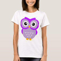 Purple Owl T T-Shirt