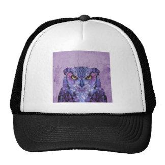 purple owl trucker hat