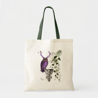 Purple Owl With Antlers 2 Tote Bag