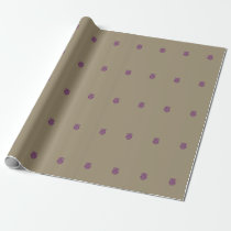 Purple Owl Wrapping Paper