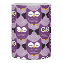 Purple Owls Flameless Candle