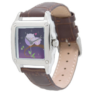 Purple Owls Mom And Baby Watches