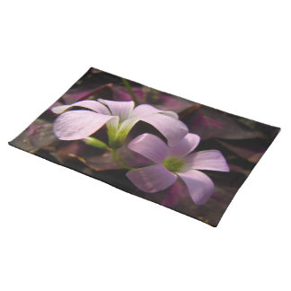 Purple Oxalis Blossoms Cloth Placemat