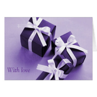 Purple packages card