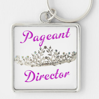 Purple Pageant Director Keychain