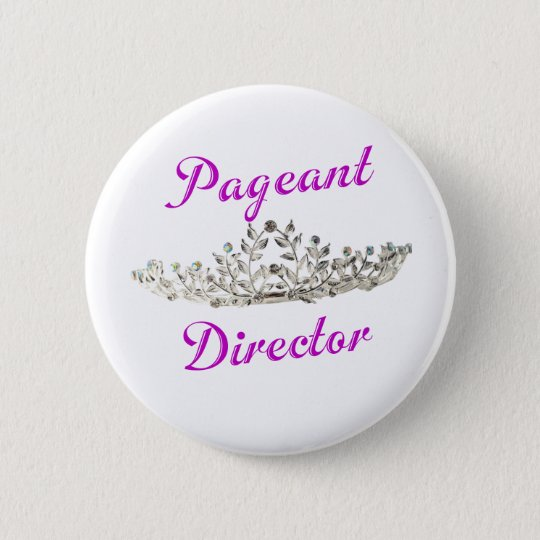 Purple Pageant Director Pinback Button