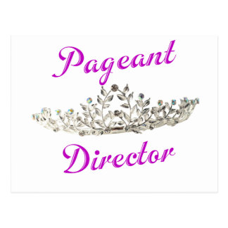 Purple Pageant Director Postcard