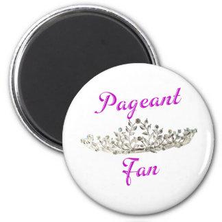 Purple Pageant Fan 2 Inch Round Magnet