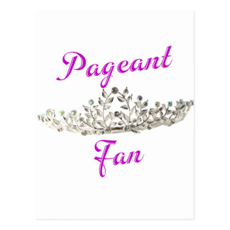 Purple Pageant Fan Postcard