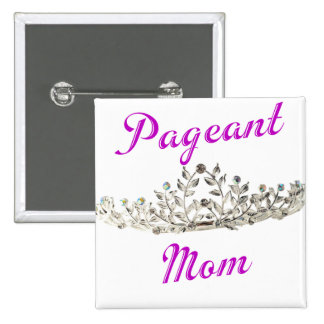 Purple Pageant Mom Button
