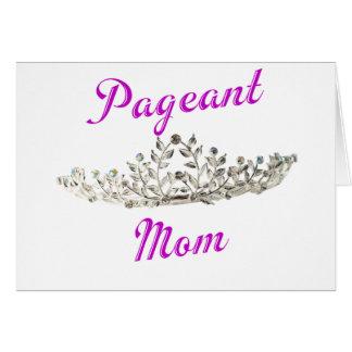 Purple Pageant Mom Card