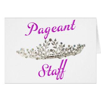 Purple Pageant Staff Card