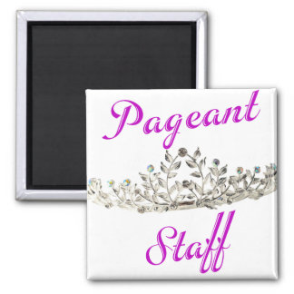 Purple Pageant Staff 2 Inch Square Magnet