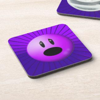 Purple Pain Awareness Graphic Art Coasters