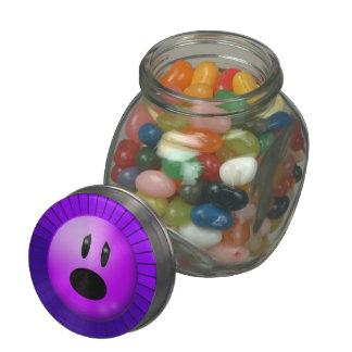 Purple Pain Awareness Graphic Art Glass Candy Jars