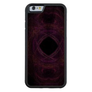 Purple Pain Fractal Carved Walnut iPhone 6 Bumper Case
