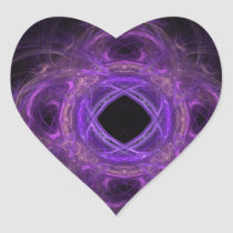 Purple Pain Fractal Heart Sticker
