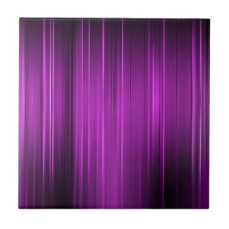 Purple Pain Levels Small Square Tile