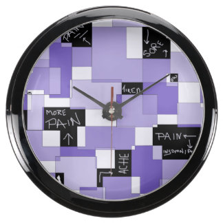 Purple Pain Modular Art Aquarium Clock