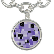 Purple Pain Modular Art Charm Bracelet